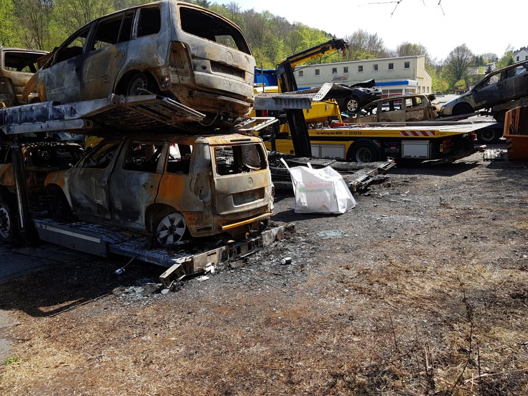 Brandschaden Transporter Annaberg